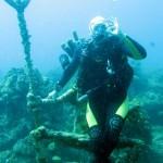 Ron Huntman op de stoel van Neptunus