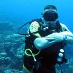 One happy diver!